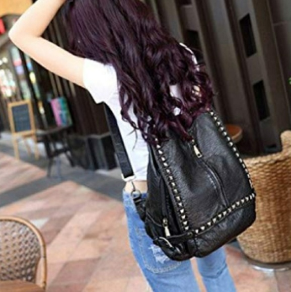 e9f4599c4812 Uto PU washed leather convertible backpack purse